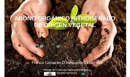 ABONO ORGÁNICO NITROGENADO DE ORIGEN VEGETAL