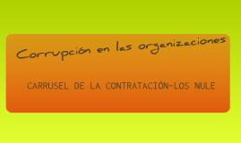 Corrupción en las Organizaciones - Los Nule