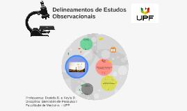 Delineamento Estudos Observacionais