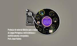 Produção de material didático para o ensino de Língua Portug