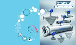 Krohne optimass 1300 process control
