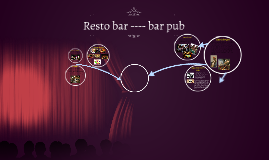 Resto bar ---- bar pub