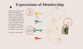 Lesson 1: Expectations of Membership.