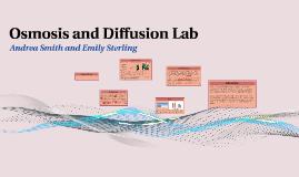 Osmosis and Diffusion Lab