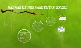 BARRAS DE HERRAMIENTAS  EXCEL