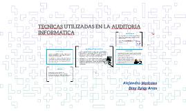 TECNICAS UTILIZADAS EN LA AUDITORIA INFORMATICA
