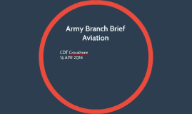 Army Branch Brief