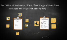 Freshmen and Transfer Housing-College of Saint Rose