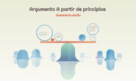 Argumento A partir de principios