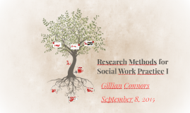 Research Methods for SOWK 336: Social Work Practice I