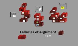 Fallacies of Argument