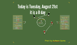 Today is Tuesday, August 20th