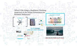 What if We Adopt a Resilience Thinking Approach