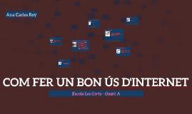 FER UN BON ÚS D'INTERNET