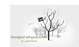 Aboriginal Self-government