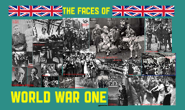 The British Face of World War One