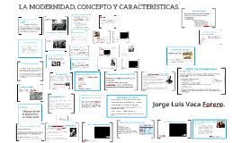 Copy of LA MODERNIDAD, CONCEPTO Y CARACTERÍSTICAS