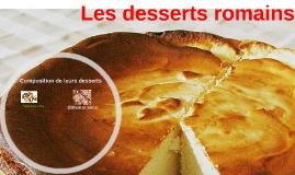 Les desserts romains