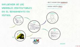 INFLUENCIA DE LAS VARIABLES CONTEXTUALES