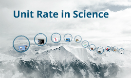 Unit Rate in Science