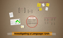 Investigating a Language: Urdu