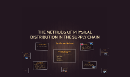 Methods of Physical Distribution in the Supply Chain By Vinozan Nadesan
