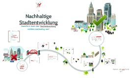 Nachhaltige Stadtenticklung