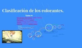 Copy of Clasificacion de los colorantes.