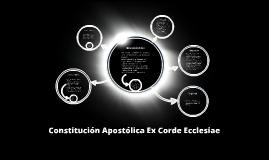 Constitución Apostólica Ex Corde Ecclesiae