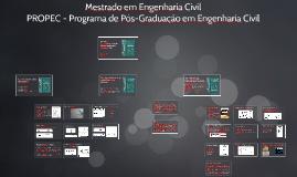 Copy of Mestrado em Engenharia Civil