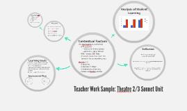 Teacher Work Sample: Theatre 2/3 Sonnet Unit