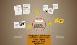 Búsqueda de información académica en bases de datos - Inglés