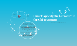 Daniel: Apocalyptic Literature in the Old Testament