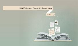 SDAIE Strategy: Interactive Read- Aloud