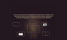 Causas y consecuencias de la migración de salvadoreños y su