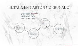 BUTACA EN CARTON CORRUGADO