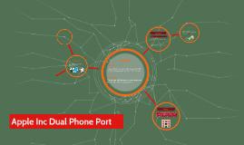 Apple Inc Dual Phone Port