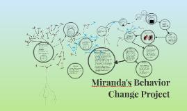 Miranda's Behavior Change Project