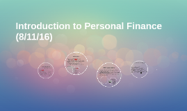 Introduction to Personal Finance (Class slides Week of 1/6/1