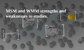 MSM and WMM strengths and weaknesses in studies.