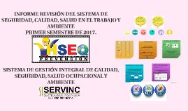 COL 1 SEMESTRE DE  2017 INFORME DE REVISIÓN GERENCIAL