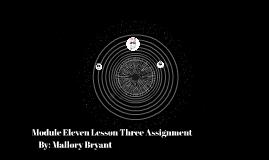 Module Eleven Lesson Three Assignment