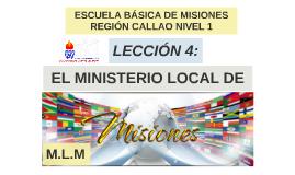 EL MINISTERIO LOCAL DE MSIONES