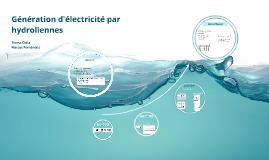 Géneration d'électricité par hydroliennes