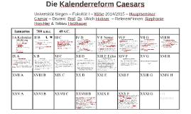 Die Kalenderreform Caesars