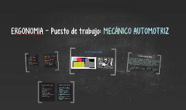 Copy of ERGONOMIA - Puesto de trabajo: MECANICO AUTOMOTRIZ