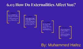 6.03 How Do Externalities Affect You?