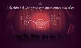 Relaciones del Congreso con otros entes estatales