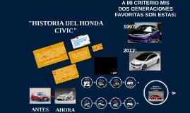 """Copy of """"HISTORIA DEL HONDA CIVIC"""""""