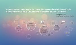 Evaluación de la eficiencia del control interno en la admini